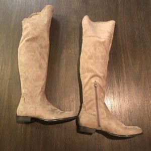 Isaac Mizrahi Shoes - Isaac Mizrahi Live! Faux Suede Over The Knee Boots